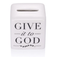 "2.5"" Porcelain ""Give It to God"" Box. Write your prayer down and give it to God by folding it into the box. Take a  breath, relax and stop worrying. Have faith, let go and let God take over!"
