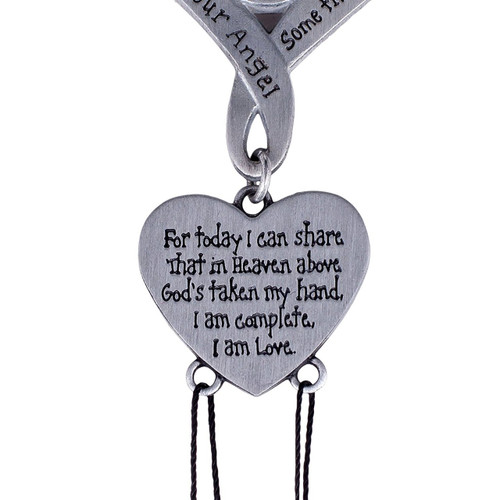 """Pewter Chime is approximately 9"""" long and included is a Gift from Heaven Poem Bookmark. Comes packaged in silver gift box"""