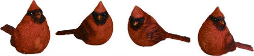 "Small Red Cardinal Figurines. Measurements: 3.25"" L x 1.5"" W x 2.5"" H. (Each Sold Separately)"