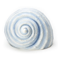 "Blue 4"" Seashell Lamp, LED porcelain seashell lamp, 15077"