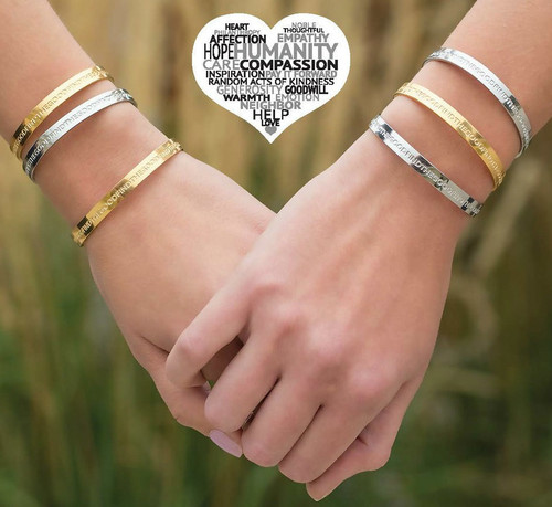 """""""Find the Good"""" Bracelets. 7"""" stainless steel bracelets with the words """"Find the Good"""" writeen continuously around bracelet. Availaible in silver or gold color.  A good reminder every time you look at it that there is good in everyone!"""