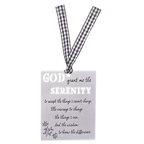 "3.25"" Serenity Prayer Laser Cut Aluminum Bookmark."