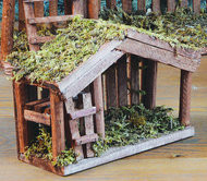 "Free 7"" Wood and Moss Covered Stable Included with purchase!"