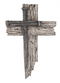 "Silver Nail Cross Plaque. Nail Cross is made of polystone and Measures 7""W x 10 1/4""H."