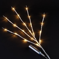 "31"" 20L USB LED white branch warm white specialty lights."