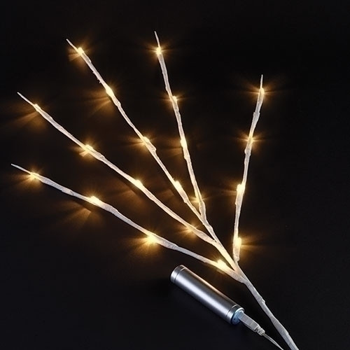"""31"""" 20L USB LED white branch warm white specialty lights."""
