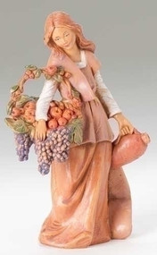 "Fontanini 5"" Scale Nativity figure, Bethany Woman with Grapes.  A wonderful addition to your Fontanini Nativity Collection! Made of polymer."