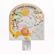 "5.5""  God Created Everything Porcelain Night Light"
