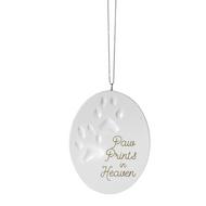 "Pawprints from Heaven Ornament. Pawprints Ornament measures 2 1/2"" W. x 3 1/2"" H. A wonderful memorable ornament of your pet."