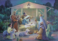 "This Precious Prince Nativity Scene Advent calendar will help prepare your children for Christmas.This Advent calendar is accented with glitter, making the detailed illustration even more beautiful. Each of the 24 windows opens to reveal a special picture that illustrates the Bible verses printed inside the windows. These Bible verses help kids follow along with the story of the Nativity. This is a great way for kids to learn about Christmas and count down the days.  Advent Calendar Size is 8 1/4"" x 11 3/4""  and is very easy to hang."