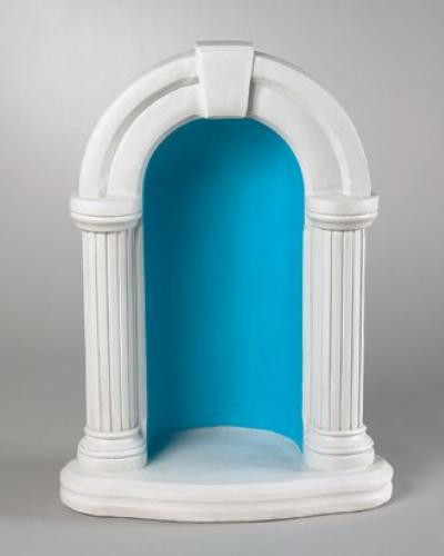"""1130DS ~ 36"""" Round Grotto for 26"""" Statue Ht:36"""", BW: 24.5"""", BL:17"""" Weight: 218 lbs Handcrafted and made to order. Allow 4-6 weeks for delivery. Made in USA"""
