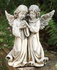Garden Statue Angels with Bird