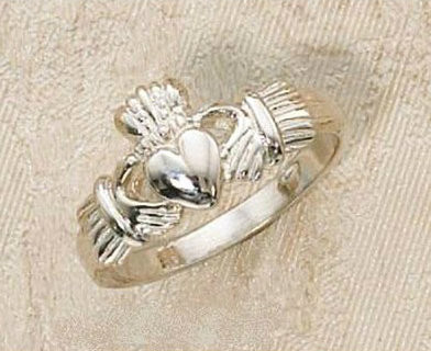 Sterling Silver Claddagh Ring is made to order in Sizes 5-10. Comes in a deluxe velour gift box. Please allow 3-4 weeks for delivery