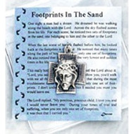 Footprints in the Sand Prayer Card & Token