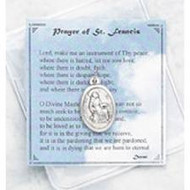 Prayer of  St. Francis Pocket Token and Prayer Card