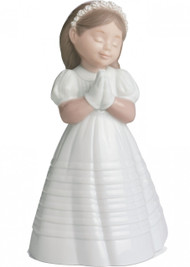 Lladro Nao Praying Girl Communion Figurine