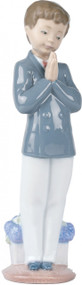 Lladro Nao Praying Boy Communion Figurine