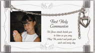 First Holy Communion Glass Frame with Locket Bracelet