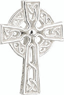 Silver plated celtic cross tie tack with exquisite knot work artistry. Great gift for confirmation. Made in Ireland and comes Gift Boxed