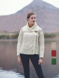 Women's Irish Patchwork Cardigan Sweater