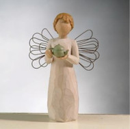 Angel of the Kitchen -Warm thoughts between friends.  This caring angel offers the warm comfort of tea to share with those close to you. Susan Lordi creates sculptures that speak in quiet and meaningful ways of healing and hope, love and family. Willow Tree captures moments in time, and turns them into lifelong memories. Stands 5.5 inches tall