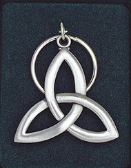 Trinity knot key ring. High quality pewter. Comes gift boxed