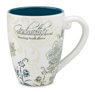 "From the Mark My Words Collection comes this 4.75"" ~ 17 ounce ceramic mug. Perfect gift for the godmother in your life! ""Godmother...Godmothers are a special blessing from above."""