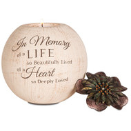 Round Tea Light Holder, In Memory of... Bereavement Gift
