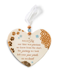 Beloved Pet Hanging Heart Shaped Ornament