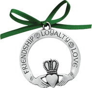 Irish Claddagh Pewter Ornament
