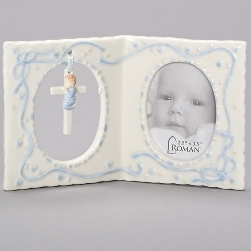 Frame Baby with Hanging Cross for Boy or Girl - Giftswithlove,Inc.