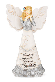 "6"" Angel Inscribed with:  ""Aunts fill our lives with Love and Laughter"""