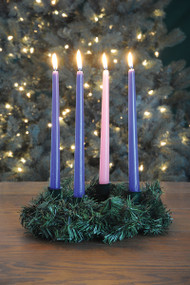 "12"" Pine Advent Wreath; Candles sold separately 101610"