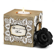Square Tea Light Holder,  Blessing
