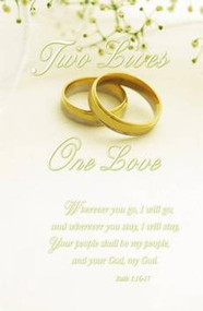 Two Lives, One Love, Wedding Program Covers
