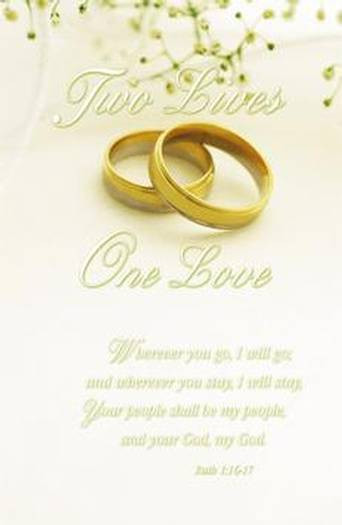 two lives one love wedding program covers giftswithlove inc