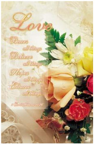 Love is Patient...1 Corinthians 13:7, Wedding Program Covers