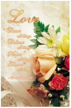 love is patient 1 corinthians 13 7 wedding program covers