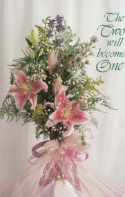 Wedding Program Covers, Pink Lillies and Lace -  The Two Will Become One