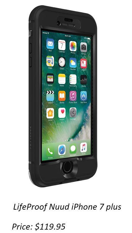 LifeProof NUUD Case iPhone 7+ Plus - Black