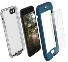 LifeProof NUUD Case with Alpha Glass iPhone 7 - Blue/Clear