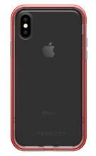 LifeProof SLAM Case iPhone X - Clear/Cherry/Sleet