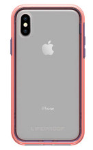 LifeProof SLAM Case iPhone X - Clear/Coral/Lilac