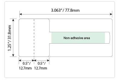 Optical frame label for thick frames #TTOL-33
