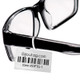 Tags for eyeglasses printed with a bar code for inventory control #OPTG-1