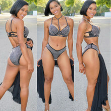 Black Stones Bikini Set