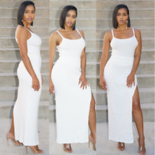 White Sleeveless two-piece set