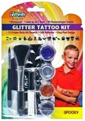 Body Glitter Tattoo Set - Spooky