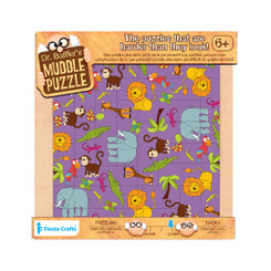 Smaller - Dr Bafflers Muddle Puzzle Jungle 22 PIECE