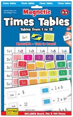 Magnetic Times Tables from 1 - 12